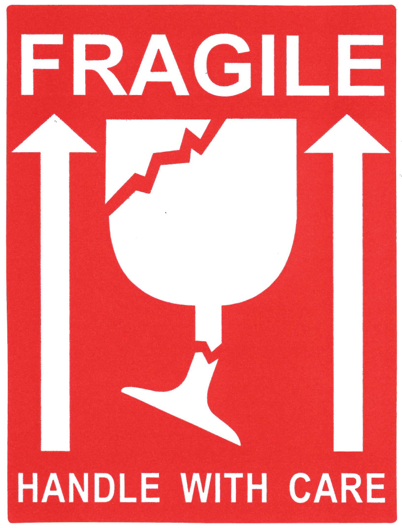 It is a graphic of Agile Fragile Stickers Printable
