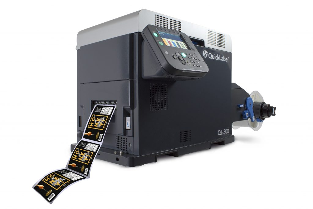 QL-300 CMYK + WHITE Toner-based Digital Label Printer